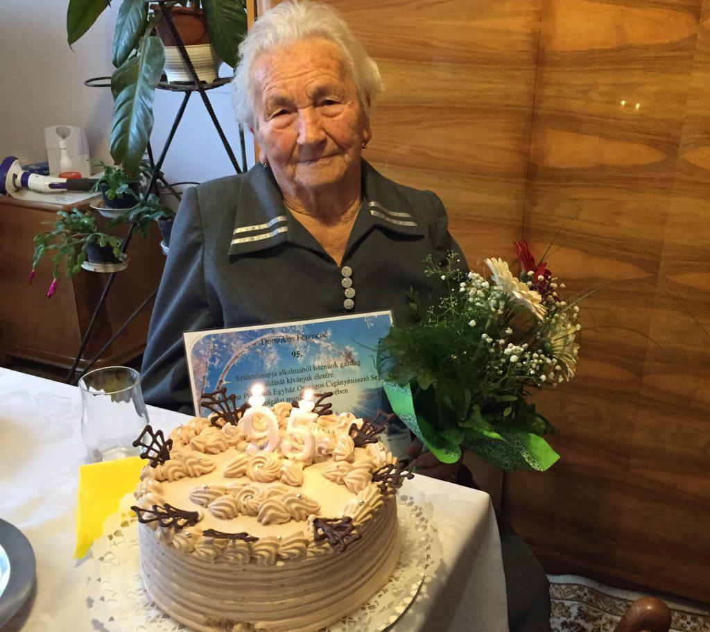 Kedves ellátottunk 95. születésnapja 1