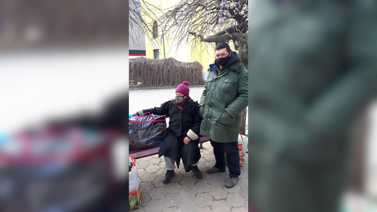 Hajléktalan család felkutatása és megsegítése